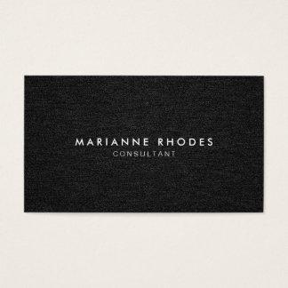 Modern svart Denim Minimalistic Visitkort