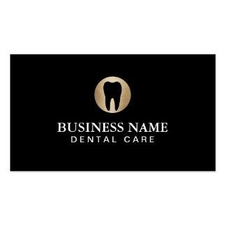 Modern svart för tandvård & guldprofessionell set av standard visitkort