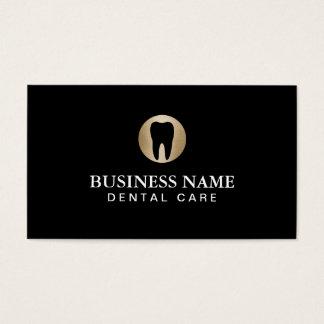 Modern svart för tandvård & guldprofessionell visitkort