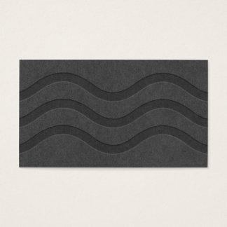 Modern svart kortstruktur vinkar mönsterrandcoola visitkort
