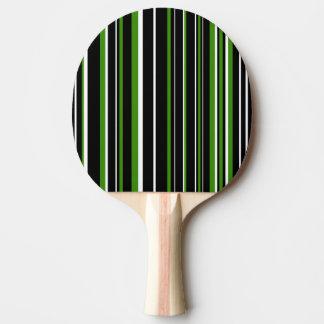 Modern svart, vit, grön Barcoderand Pingisracket