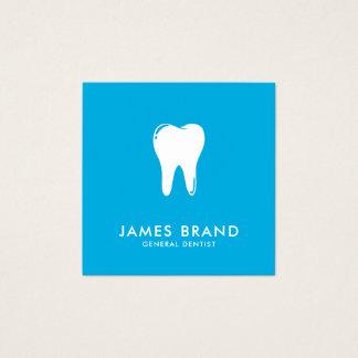 Modern tandläkare fyrkantigt visitkort