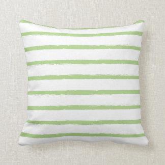 Modern texturerad grönt för limefrukt för kudde