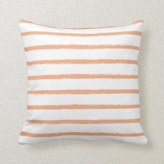 Modern texturerad orange Sherbet för Kudde