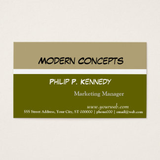 Modern Tri färggröntkonsulent Visitkort