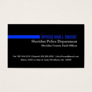 Modern tunn blålinjenpolis visitkort