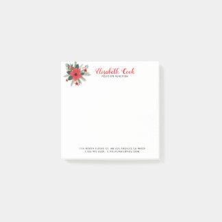 Modern typografi för juljulstjärnabukett post-it block