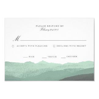 Modern vattenfärgbergOSA kort 8,9 X 12,7 Cm Inbjudningskort