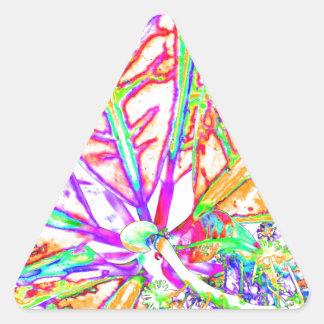 modern växt triangelformat klistermärke
