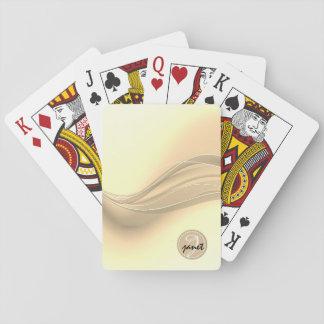 Modern vinkar Monogram för Milky Caramel Spelkort