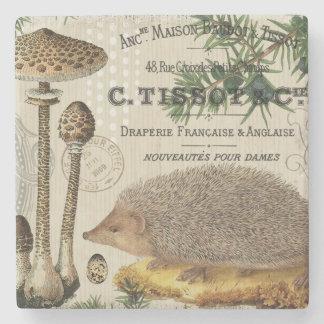 modern vintageskogsmarkigelkott underlägg sten