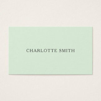 Modern visitkort för Minimalist pastellgrönt