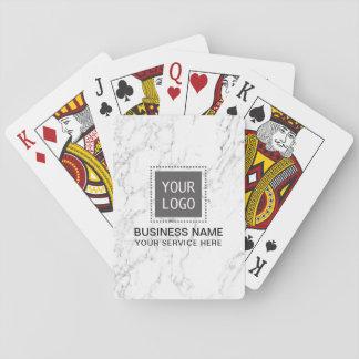 Modern vitmarmor för företags beställnings- spel kort