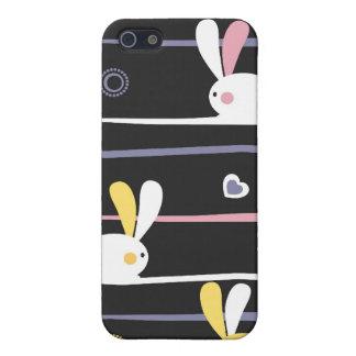 Modern vridningdesign för påskhare iPhone 5 fodraler