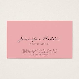 Modern yrkesmässig elegant rosa vitrengöringslätt visitkort