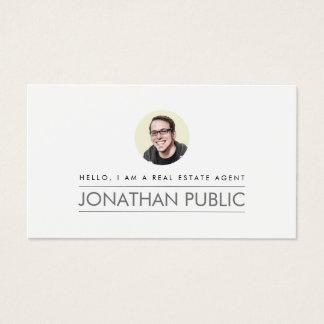 Modern yrkesmässig fastighet visitkort