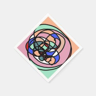 Moderna abstrakt konstcoctailservetter pappersservett