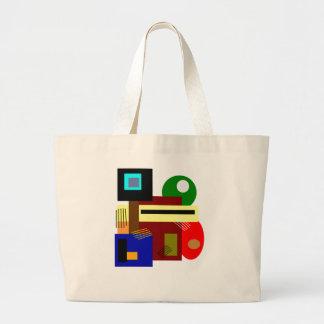 Moderna abstrakt konstShapar och färger Jumbo Tygkasse
