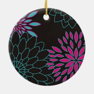 Moderna abstraktblommor för blom- design julgransprydnad keramik