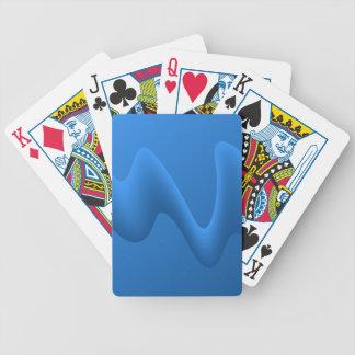 Moderna blått vinkar abstrakt design spelkort