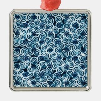 Moderna dagflödesblått julgransprydnad metall