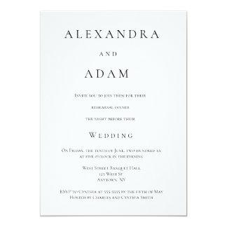 Moderna eleganta enkla repetition 12,7 x 17,8 cm inbjudningskort