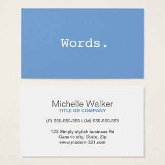 Moderna enkla blått-grått för visitkort