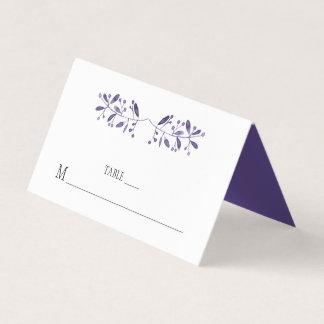Moderna enkla ultravioletta ställekort placeringskort