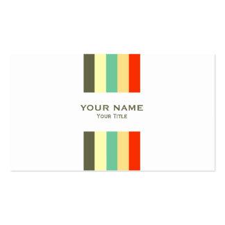 Moderna färgrika randar set av standard visitkort