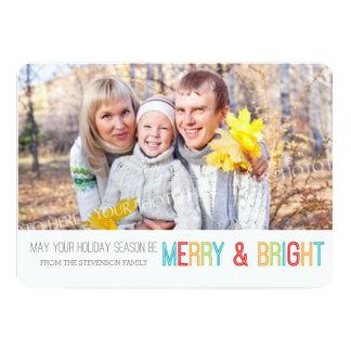 Moderna grå färg för glatt & ljust fotokort 12,7 x 17,8 cm inbjudningskort