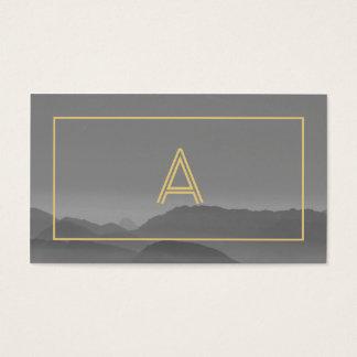 Moderna grått landskap fotograferar den kalla visitkort