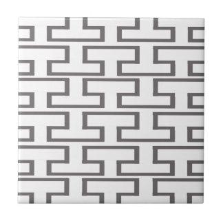 Moderna grått- och vittegelstenar liten kakelplatta
