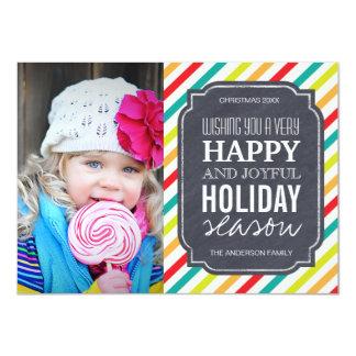 Moderna ljusa kort för helgdagjulfoto 11,4 x 15,9 cm inbjudningskort
