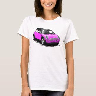 Moderna mini- bästa bildamer för shock rosa tshirts