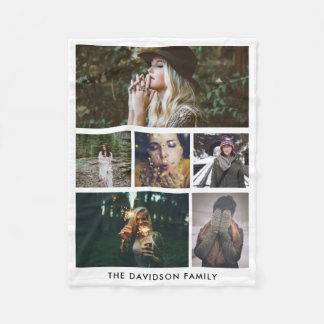 Moderna Minimalist enkla foto för familj sex Fleecefilt