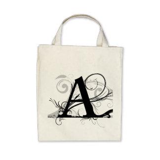 "Moderna Monograms - ""A "", Tygkassar"