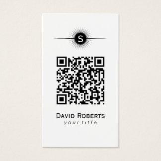 Moderna QR kodifierar den enkla slätten Visitkort