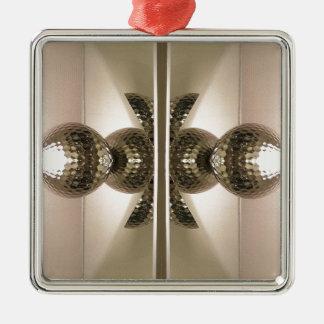 Moderna rena geometriska spegelförsedda kabinett silverfärgad fyrkantigt julgransprydnad