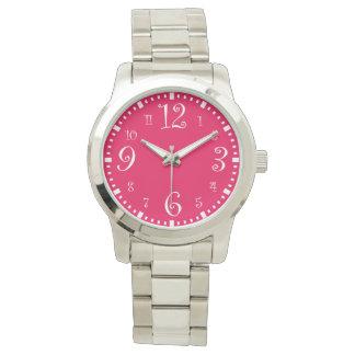 Moderna Retro chic shock rosa Armbandsur