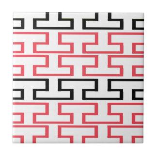Moderna röda svartvita tegelstenar kakelplatta
