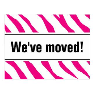 Moderna rörs vykort med rosa zebra ränder