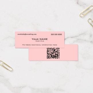 Moderna rosor QR kodifierar Litet Visitkort