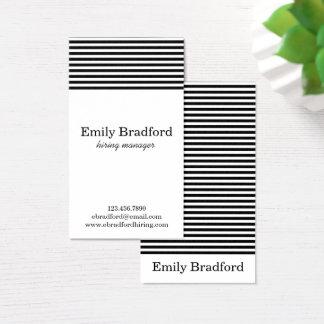 Moderna svartvita randiga visitkortar visitkort