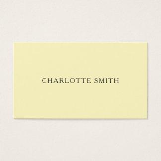 Moderna visitkortar för Minimalist pastellgult Visitkort