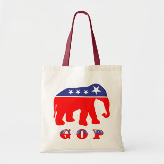 Moderniserad GOP-elefant Budget Tygkasse