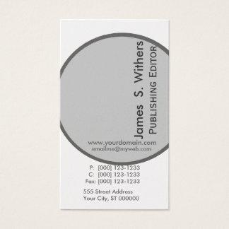 Modernistisk konstnärlig samtida design visitkort