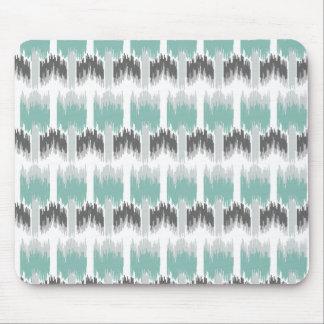 Modernt abstrakt blom- Ikat för grå MintAqua Musmatta