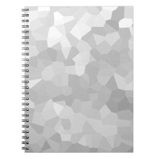 Modernt - abstrakt för grått- och vitpolygonShape Anteckningsbok Med Spiral