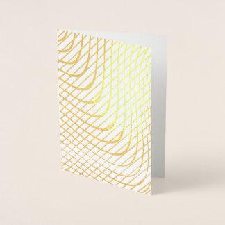Modernt abstrakt Minimalist guld Folierat Kort