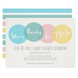 Modernt är hon klar att poppa baby showerinbjudan 12,7 x 17,8 cm inbjudningskort